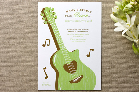 musical Children's Birthday Party Invitations