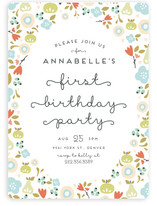 Orchard Blossoms Children's Birthday Party Invitations
