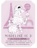 Parisian Poodle Children's Birthday Party Invitations