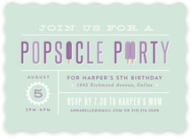 Popsicle Party Kids Party Invitations