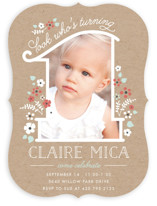 She's One Children's Birthday Party Invitations