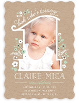 She's One Children's Birthday Party Invitations