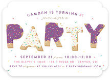 Sugar Cookie Children's Birthday Party Invitations