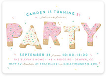 Sugar Cookie Kids Party Invitations