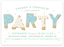 Sugar Cookie Children's Birthday Party Invitations