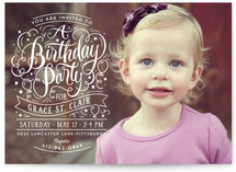 Swirls Of Fun Kids Party Invitations