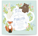 Tea Party With Animals Children's Birthday Party Invitations