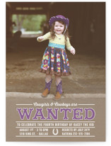Western Wanted Children's Birthday Party Invitations