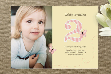 Fly On By Children's Birthday Party Invitations