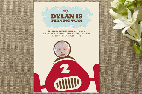 Speed Racer Children's Birthday Party Invitations
