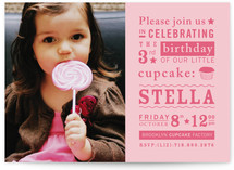 Littlest Cupcake Children's Birthday Party Invitations