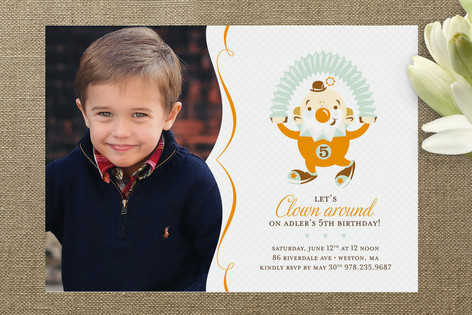 Clowning Around! Children's Birthday Party Invitations