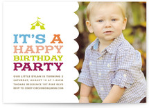 Circus Tent Children's Birthday Party Invitations