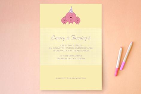 These Little Piggies Children's Birthday Party Invitations