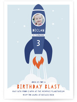 Blast Off Children's Birthday Party Invitations