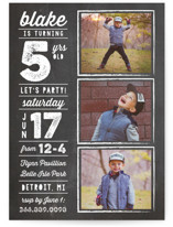 Chalk Type Children's Birthday Party Invitations