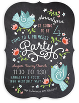 Chalkboard Princess Children's Birthday Party Invitations