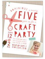 Crafty Kids Children's Birthday Party Invitations