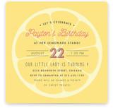 Lemonade Stand Children's Birthday Party Invitations