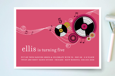 Records Children's Birthday Party Invitations