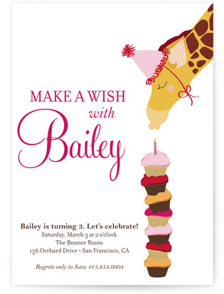 Make A Wish Children's Birthday Party Invitations