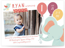 Lil Elephant Children's Birthday Party Invitations