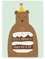 Birthday Bear Children's Birthday Party Invitations