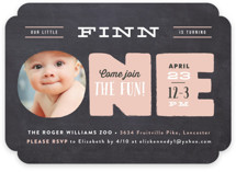 Peek A Boo Children's Birthday Party Invitations