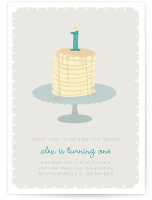 First Birthday Brunch Children's Birthday Party Invitations