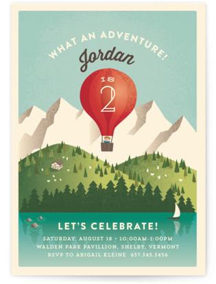 Greatest Adventure Children's Birthday Party Invitations