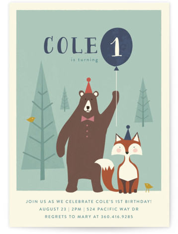 Into The Woods! Children's Birthday Party Invitations