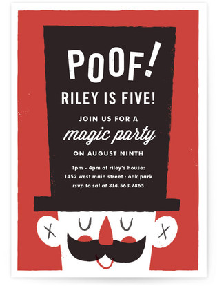 Poof: Birthday Magic Children's Birthday Party Invitations