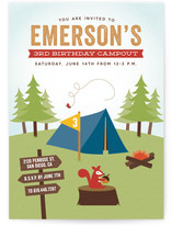 Critter Camping Kids Party Invitations