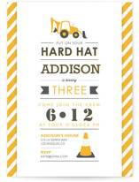 Hard Hats And Bacos Children's Birthday Party Invitations