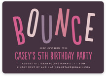 Bounce on Over Children's Birthday Party Invitations