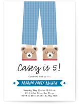 Pajama Party Children's Birthday Party Invitations
