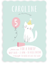 Party Cat Children's Birthday Party Invitations