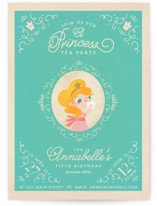 Princess Tea Children's Birthday Party Invitations