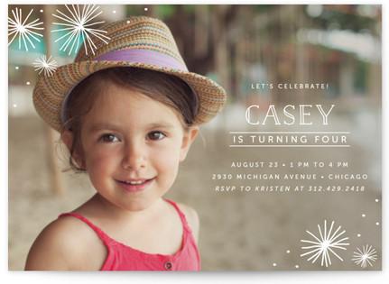 Simple Stars Children's Birthday Party Invitations