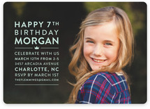 Modern Block Children's Birthday Party Invitations