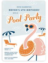 Fancy Flamingo Children's Birthday Party Invitations