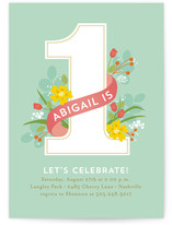 In the Garden Kids Party Invitations