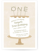 Frosting Children's Birthday Party Invitations