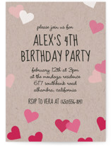 Valentine's Ombre Love Children's Birthday Party Invitations