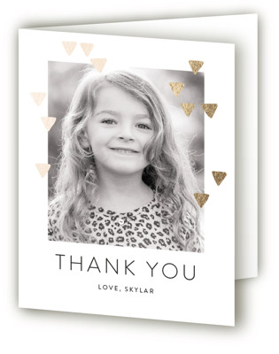 Modern Glow Foil-Pressed Children's Birthday Party Thank You Cards