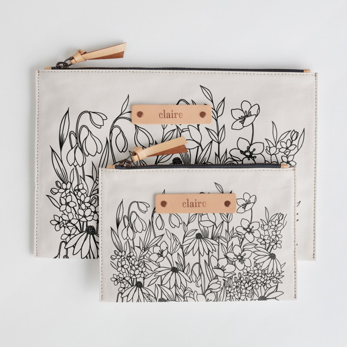 Bohemian Florals Catch-All Fabric Pouch Set