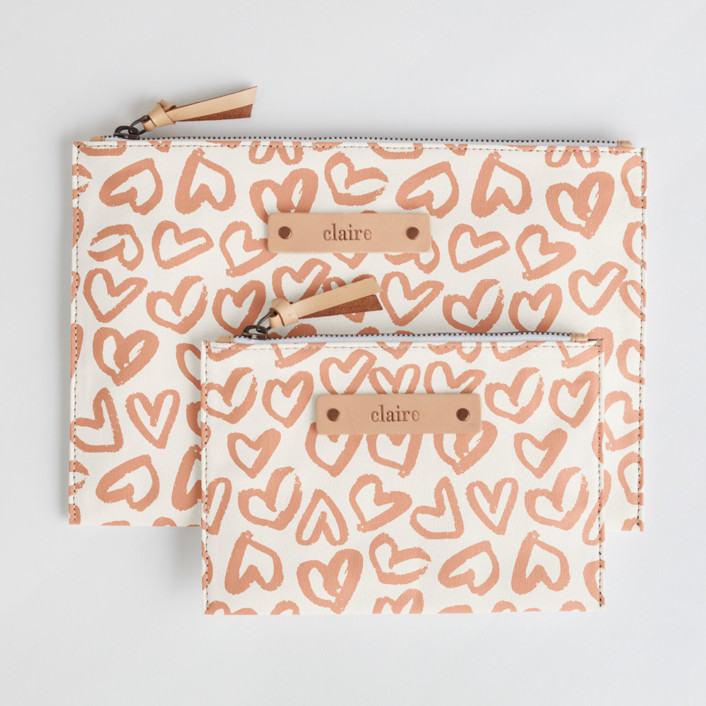 Heart Flutter Catch-All Fabric Pouch Set
