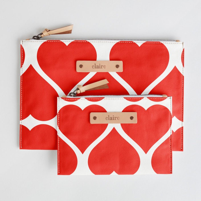 Big Heart Catch-All Fabric Pouch Set