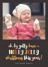 Jolly Holiday Christmas Photo Cards