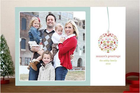 Ornamental Joy Christmas Photo Cards